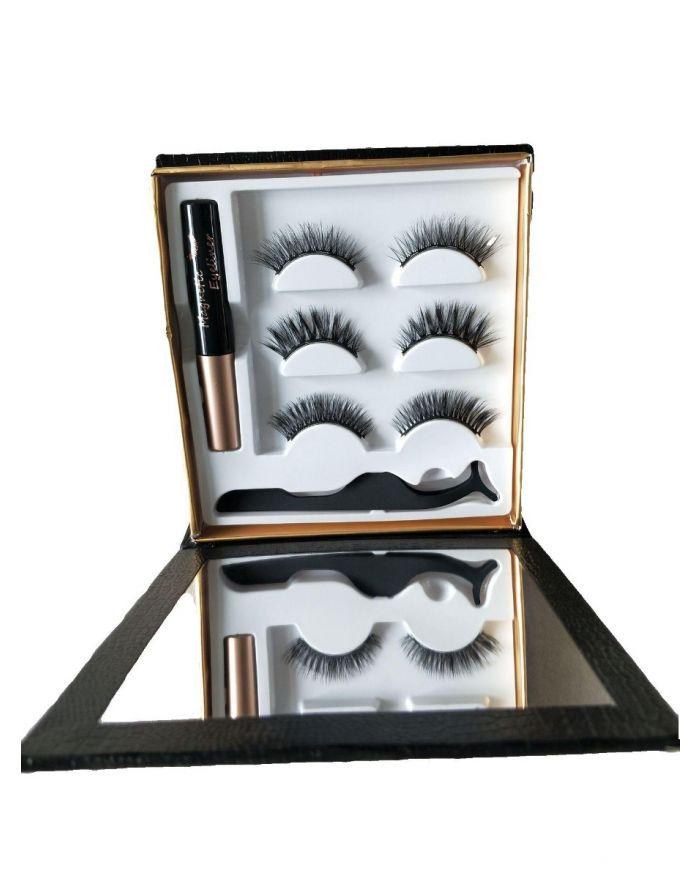 Magnetic liquid eyeliner and false eyelashes set