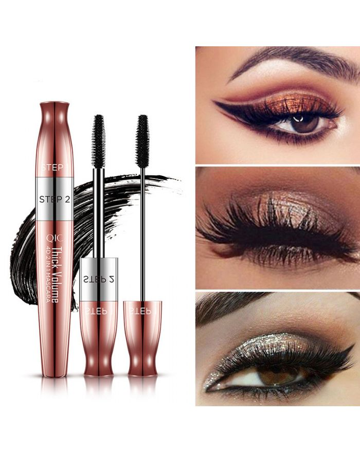 Double-ended rose gold mascara