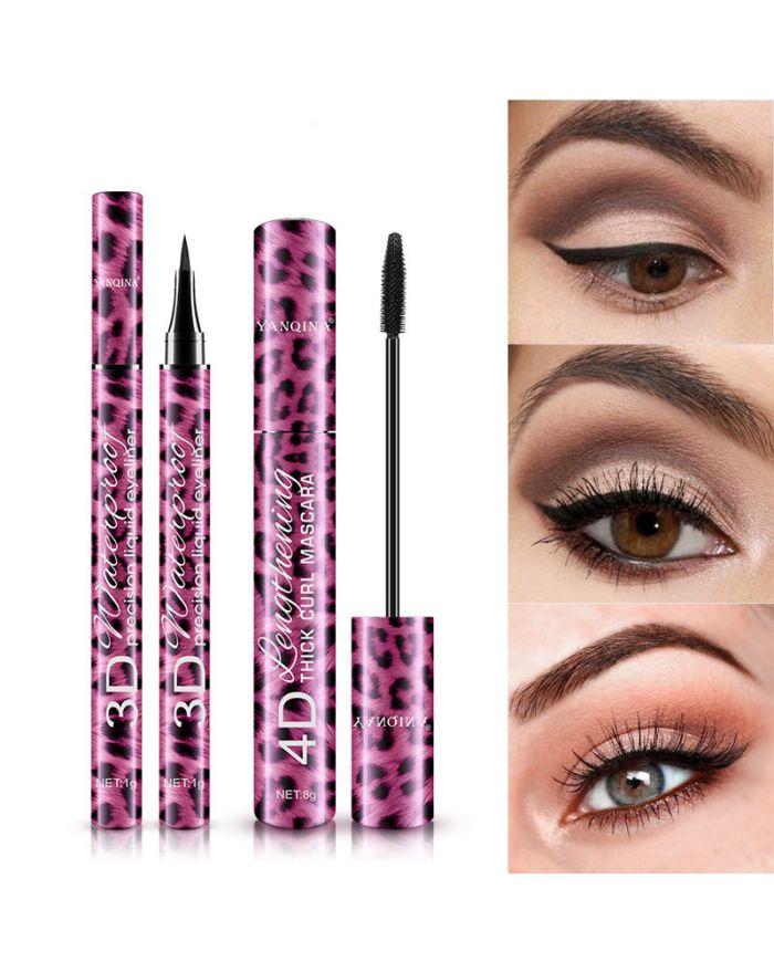Leopard print mascara eyeliner makeup set
