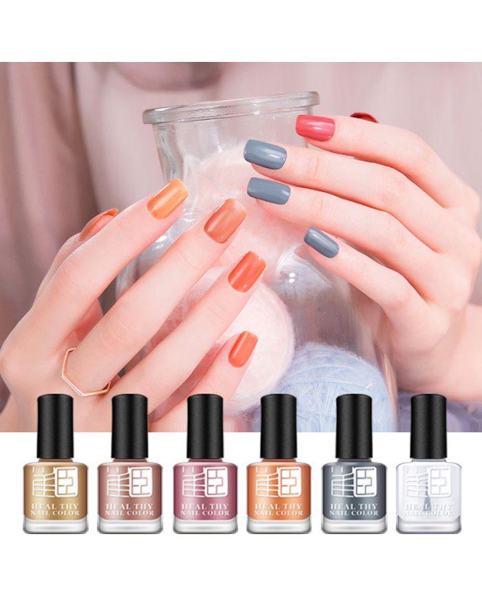 Water-based 6 pcs nail polish set