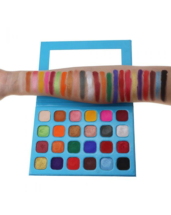 Customizable logo 24 color eyeshadow