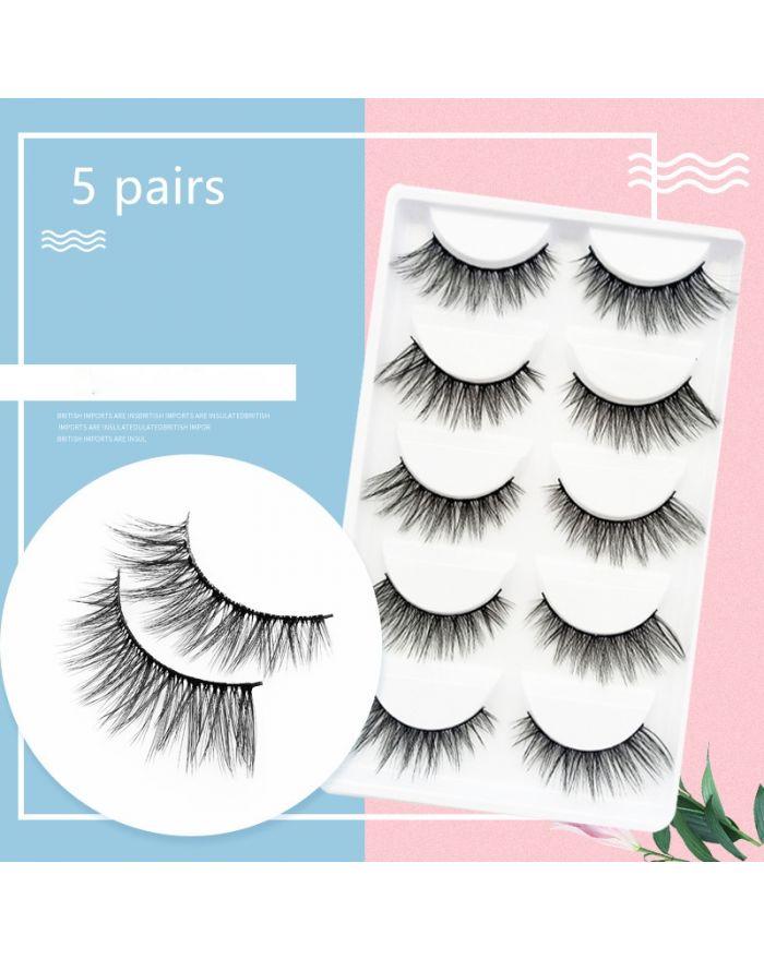 3D 5 pairs eyelashes