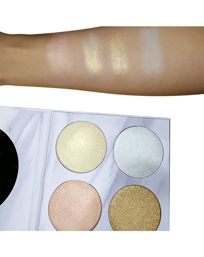 4-color marble highlight eyeshadow