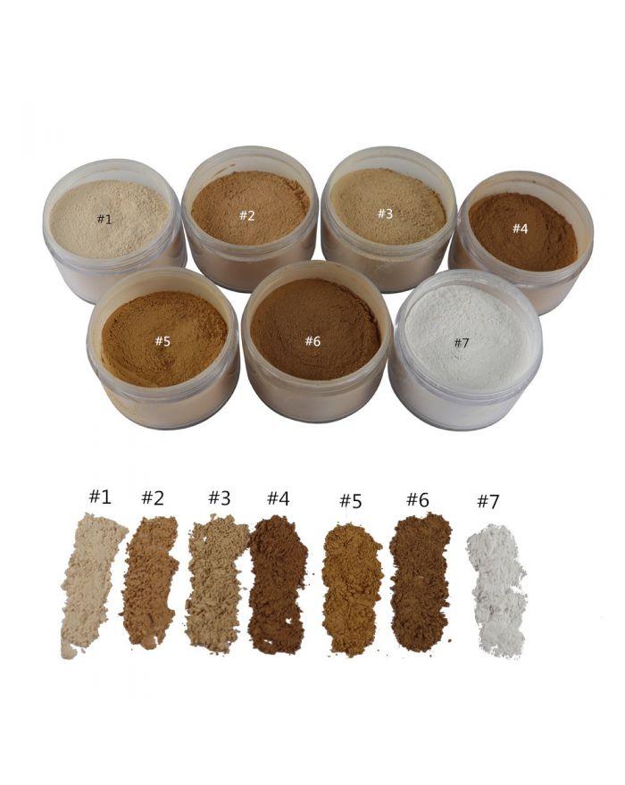 Customizable logo makeup powder