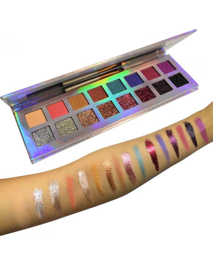 Customizable logo 16 color eyeshadow