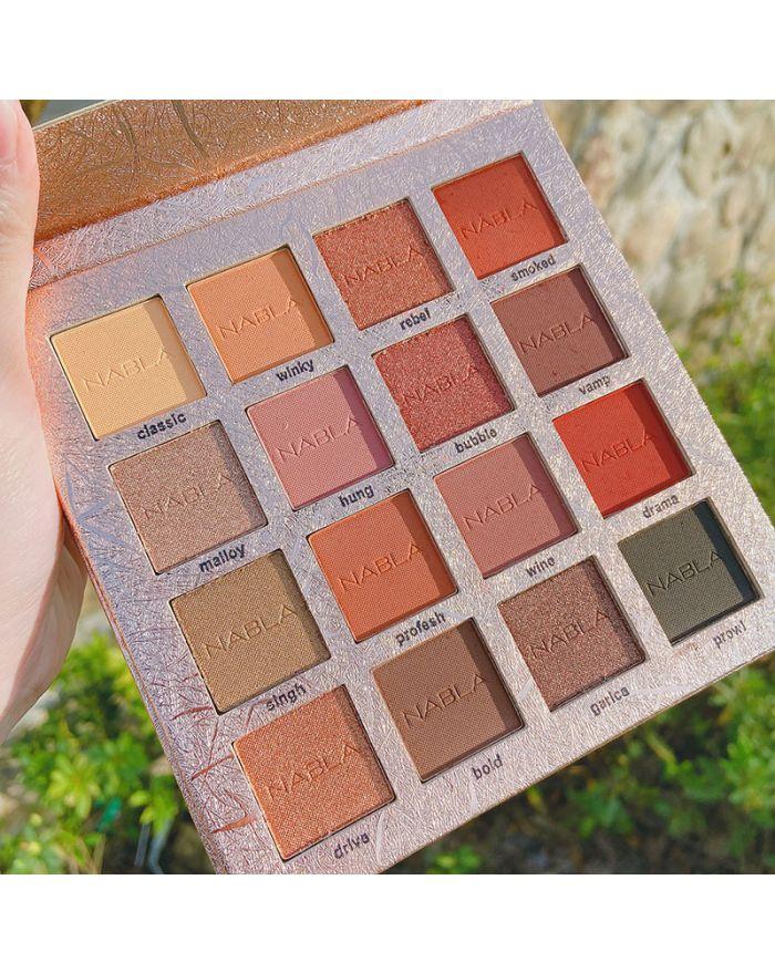 Gold foil 16-color eyeshadow palette