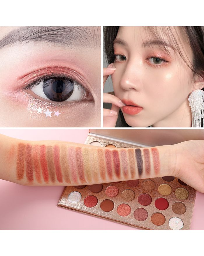 35 color mashed potato glitter pearl eyeshadow palette